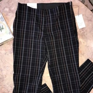NWT A New Day Black Plaid Skinny Ankle Pants